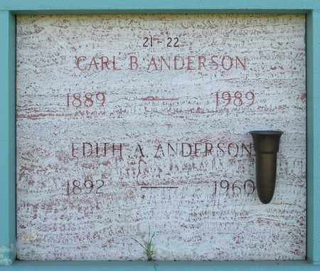 ANDERSON, EDITH A - Marion County, Oregon | EDITH A ANDERSON - Oregon Gravestone Photos