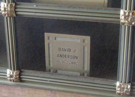 ANDERSON, DAVID J - Marion County, Oregon | DAVID J ANDERSON - Oregon Gravestone Photos