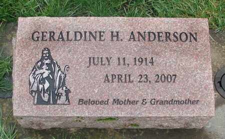 ANDERSON, GERALDINE H - Marion County, Oregon | GERALDINE H ANDERSON - Oregon Gravestone Photos
