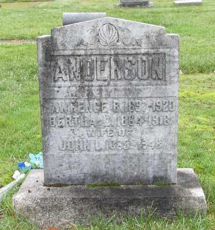 ANDERSON, BERTHA L - Marion County, Oregon   BERTHA L ANDERSON - Oregon Gravestone Photos