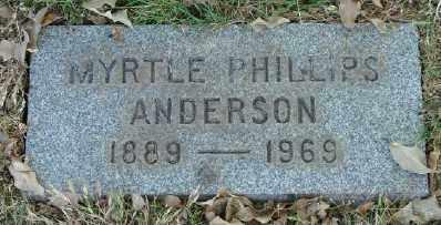 PHILLIPS, MYRTLE - Marion County, Oregon | MYRTLE PHILLIPS - Oregon Gravestone Photos