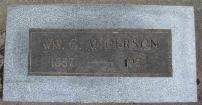 ANDERSON, WILLIAM GRANT - Marion County, Oregon | WILLIAM GRANT ANDERSON - Oregon Gravestone Photos