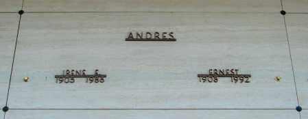 ANDRES, ERNEST - Marion County, Oregon | ERNEST ANDRES - Oregon Gravestone Photos