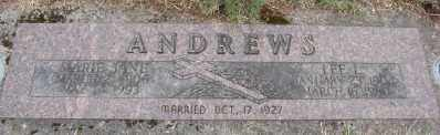 ANDREWS, MARIE JANE - Marion County, Oregon | MARIE JANE ANDREWS - Oregon Gravestone Photos