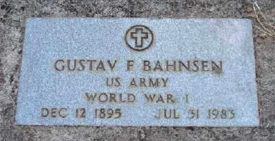 BAHNSEN (WWI), GUSTAF F - Marion County, Oregon | GUSTAF F BAHNSEN (WWI) - Oregon Gravestone Photos