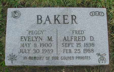 BAKER, ALFRED DE FORREST - Marion County, Oregon | ALFRED DE FORREST BAKER - Oregon Gravestone Photos