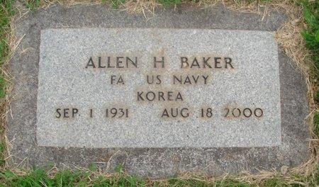 BAKER, ALLEN H - Marion County, Oregon | ALLEN H BAKER - Oregon Gravestone Photos