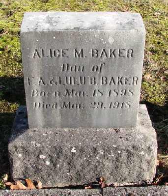 BAKER, ALICE MARIE - Marion County, Oregon | ALICE MARIE BAKER - Oregon Gravestone Photos