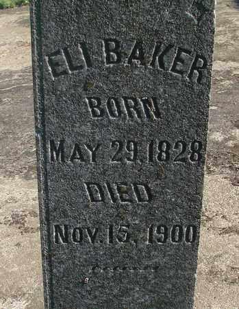BAKER, ELI - Marion County, Oregon | ELI BAKER - Oregon Gravestone Photos