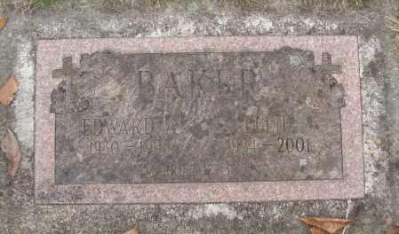 BAKER, EDWARD A - Marion County, Oregon | EDWARD A BAKER - Oregon Gravestone Photos