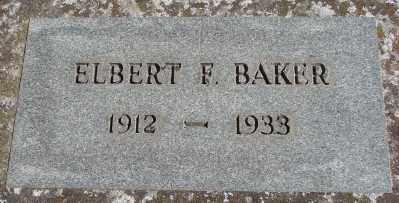 BAKER, ELBERT FLOYD G - Marion County, Oregon | ELBERT FLOYD G BAKER - Oregon Gravestone Photos