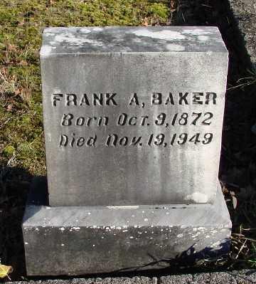 BAKER, FRANK ALBERT - Marion County, Oregon   FRANK ALBERT BAKER - Oregon Gravestone Photos