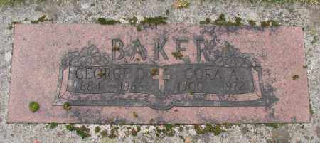 BAKER, CORA A - Marion County, Oregon | CORA A BAKER - Oregon Gravestone Photos