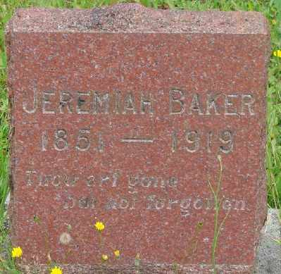 BAKER, JEREMIAH ALERO - Marion County, Oregon | JEREMIAH ALERO BAKER - Oregon Gravestone Photos