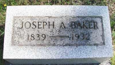 BAKER, JOSEPH A - Marion County, Oregon | JOSEPH A BAKER - Oregon Gravestone Photos