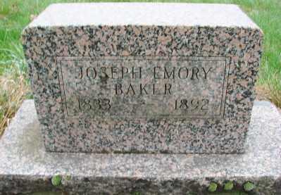 BAKER, JOSEPH EMERY - Marion County, Oregon | JOSEPH EMERY BAKER - Oregon Gravestone Photos