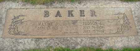 BAKER, MAXINE J - Marion County, Oregon | MAXINE J BAKER - Oregon Gravestone Photos