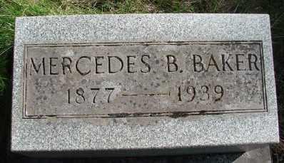 BAKER, LOLLIE MERCEDES - Marion County, Oregon | LOLLIE MERCEDES BAKER - Oregon Gravestone Photos