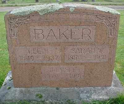 BAKER, SARAH W - Marion County, Oregon | SARAH W BAKER - Oregon Gravestone Photos