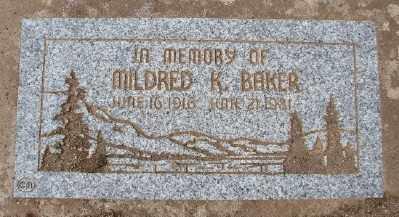 BAKER, MILDRED K - Marion County, Oregon | MILDRED K BAKER - Oregon Gravestone Photos
