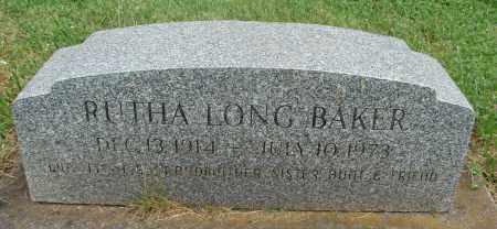 BAKER, RUTHA - Marion County, Oregon | RUTHA BAKER - Oregon Gravestone Photos