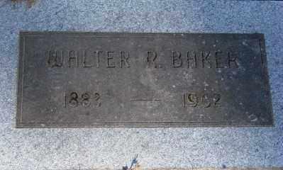 BAKER, WALTER R - Marion County, Oregon   WALTER R BAKER - Oregon Gravestone Photos