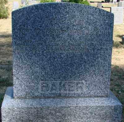 BAKER, WILLIAM H - Marion County, Oregon | WILLIAM H BAKER - Oregon Gravestone Photos