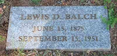 BALCH, LEWIS D - Marion County, Oregon | LEWIS D BALCH - Oregon Gravestone Photos