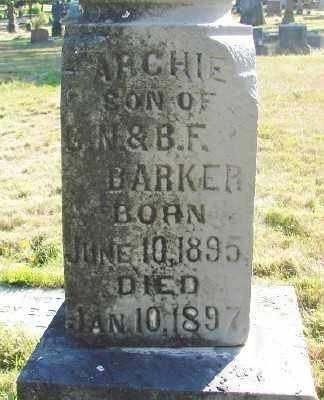 BARKER, ARCHIE - Marion County, Oregon | ARCHIE BARKER - Oregon Gravestone Photos