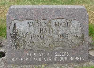 BATES, YVONNE MARIE - Marion County, Oregon | YVONNE MARIE BATES - Oregon Gravestone Photos