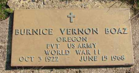 BOAZ (WWII), BURNICE VERNON - Marion County, Oregon | BURNICE VERNON BOAZ (WWII) - Oregon Gravestone Photos