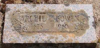 BOWEN, ARCHIE LEWIS - Marion County, Oregon | ARCHIE LEWIS BOWEN - Oregon Gravestone Photos