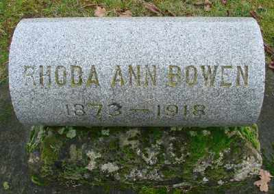 BOWEN, RHODA ANN - Marion County, Oregon | RHODA ANN BOWEN - Oregon Gravestone Photos