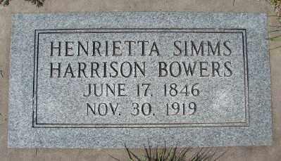 BOWERS, HENRIETTA MARSTON - Marion County, Oregon | HENRIETTA MARSTON BOWERS - Oregon Gravestone Photos