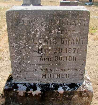 DEBAST BRANT, EVA FRANCIS OMERINE - Marion County, Oregon | EVA FRANCIS OMERINE DEBAST BRANT - Oregon Gravestone Photos