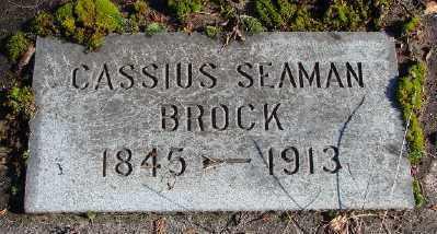 BROCK, CASSIUS SEAMAN - Marion County, Oregon | CASSIUS SEAMAN BROCK - Oregon Gravestone Photos