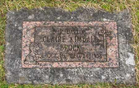 BROCK, CLAIRE KIMBALL - Marion County, Oregon | CLAIRE KIMBALL BROCK - Oregon Gravestone Photos