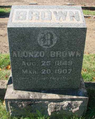 BROWN, ALONZO - Marion County, Oregon | ALONZO BROWN - Oregon Gravestone Photos
