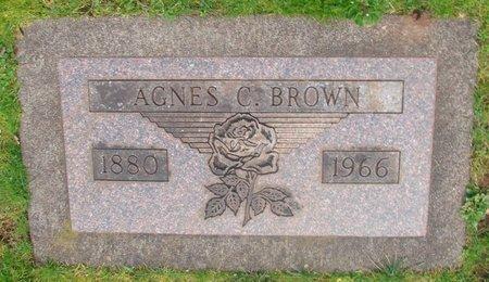 BROWN, AGNES C - Marion County, Oregon | AGNES C BROWN - Oregon Gravestone Photos