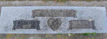 BROWN, ALLEN LEE - Marion County, Oregon | ALLEN LEE BROWN - Oregon Gravestone Photos