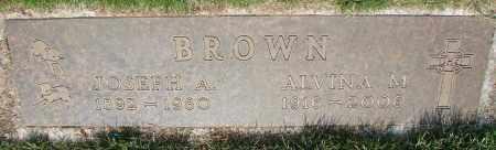 BROWN, ALVINA M - Marion County, Oregon | ALVINA M BROWN - Oregon Gravestone Photos