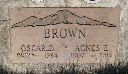 BROWN, OSCAR D - Marion County, Oregon | OSCAR D BROWN - Oregon Gravestone Photos