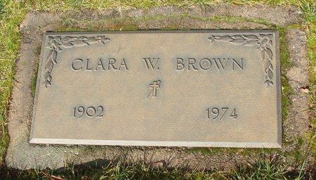 BROWN, CLARA W - Marion County, Oregon | CLARA W BROWN - Oregon Gravestone Photos