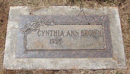 BROWN, CYNTHIA ANN - Marion County, Oregon | CYNTHIA ANN BROWN - Oregon Gravestone Photos