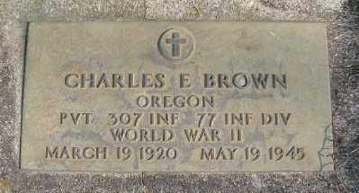 BROWN, CHARLES E - Marion County, Oregon | CHARLES E BROWN - Oregon Gravestone Photos
