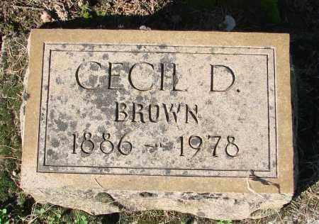 BROWN, CECIL DAVID - Marion County, Oregon | CECIL DAVID BROWN - Oregon Gravestone Photos