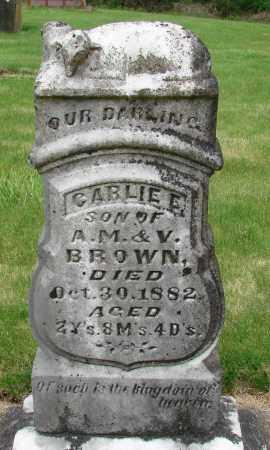 BROWN, CARLIE E - Marion County, Oregon | CARLIE E BROWN - Oregon Gravestone Photos