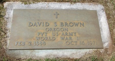 BROWN, DAVID S - Marion County, Oregon | DAVID S BROWN - Oregon Gravestone Photos