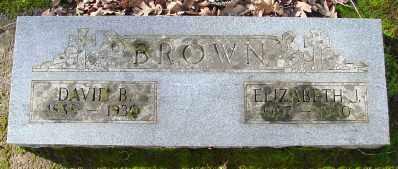 BROWN, ELIZABETH J - Marion County, Oregon | ELIZABETH J BROWN - Oregon Gravestone Photos