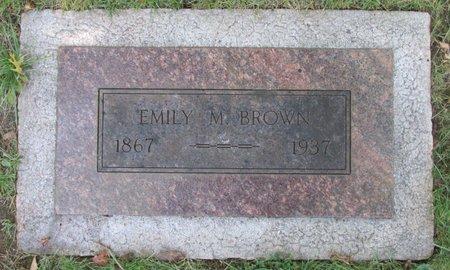 BROWN, EMILY M - Marion County, Oregon | EMILY M BROWN - Oregon Gravestone Photos